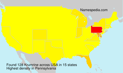 Surname Krumrine in USA