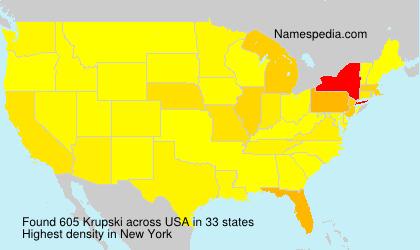 Familiennamen Krupski - USA
