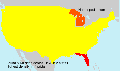 Surname Kruscha in USA