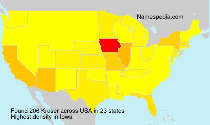 Surname Kruser in USA