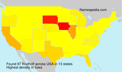 Surname Kruthoff in USA