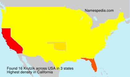 Familiennamen Krutzik - USA