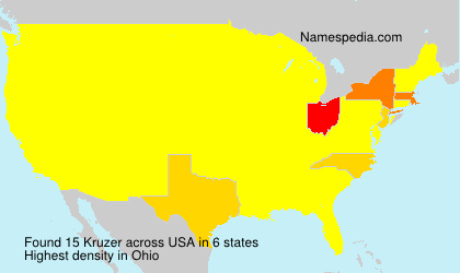 Surname Kruzer in USA