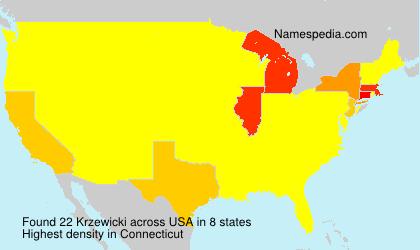 Surname Krzewicki in USA