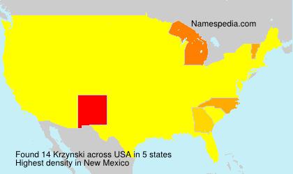 Surname Krzynski in USA