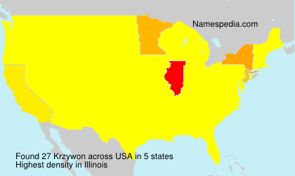 Surname Krzywon in USA