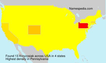 Surname Krzyzosiak in USA