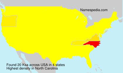 Surname Ksa in USA
