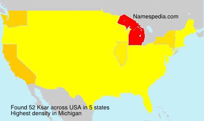 Surname Ksar in USA