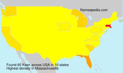 Surname Ksen in USA