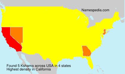 Surname Kshama in USA