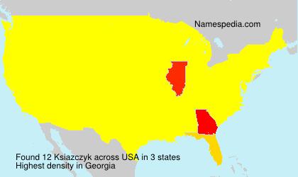 Surname Ksiazczyk in USA