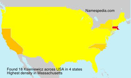 Surname Ksieniewicz in USA
