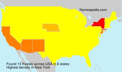 Surname Ksieski in USA