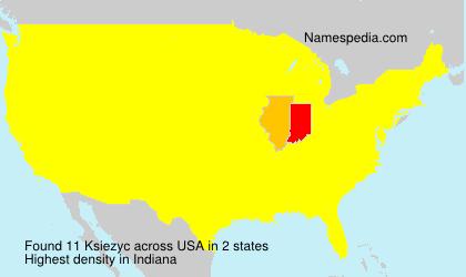 Surname Ksiezyc in USA