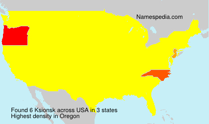 Surname Ksionsk in USA