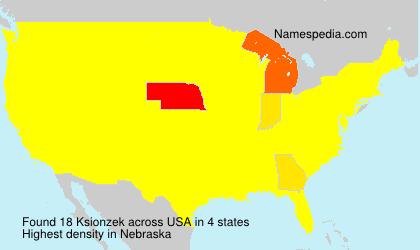 Surname Ksionzek in USA