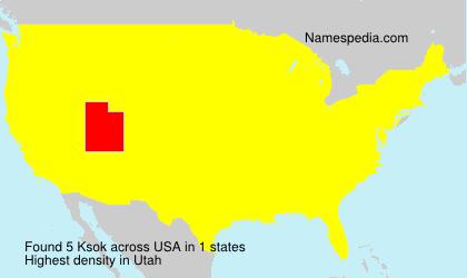 Surname Ksok in USA