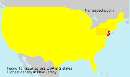Surname Kszak in USA