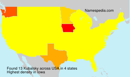 Surname Kubalsky in USA