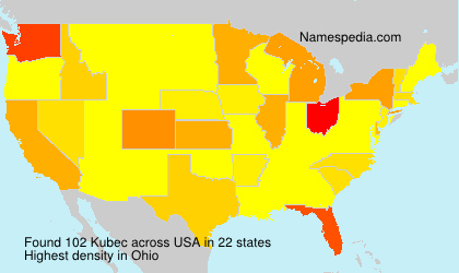 Familiennamen Kubec - USA