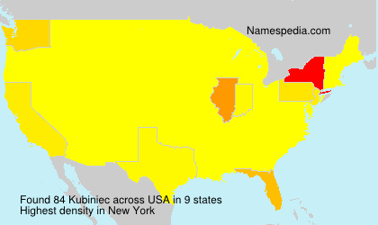 Surname Kubiniec in USA