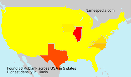 Surname Kublank in USA