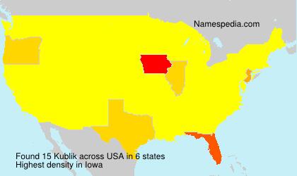 Surname Kublik in USA