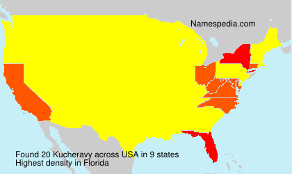 Surname Kucheravy in USA