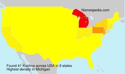 Familiennamen Kuchna - USA