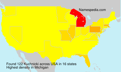 Familiennamen Kuchnicki - USA