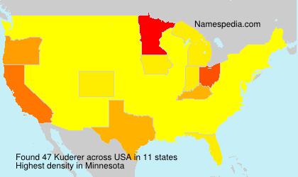 Surname Kuderer in USA