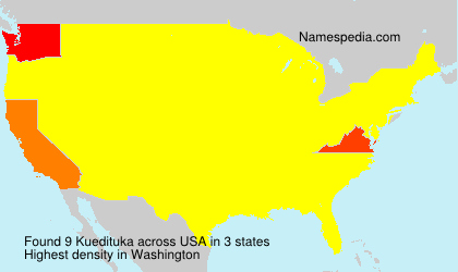 Surname Kuedituka in USA