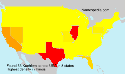 Surname Kuehlem in USA