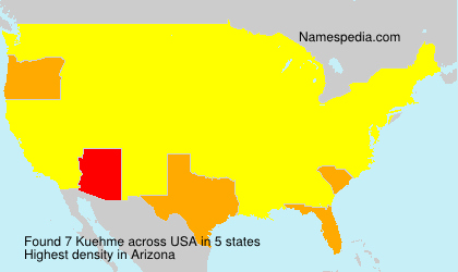 Surname Kuehme in USA