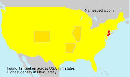 Surname Kueken in USA