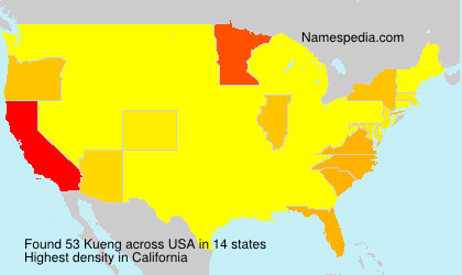 Surname Kueng in USA