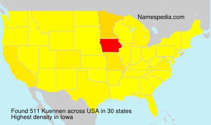 Familiennamen Kuennen - USA