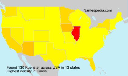 Familiennamen Kuenster - USA