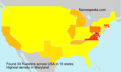 Surname Kuesters in USA