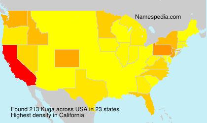 Surname Kuga in USA
