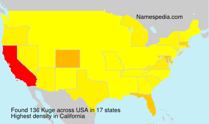 Surname Kuge in USA