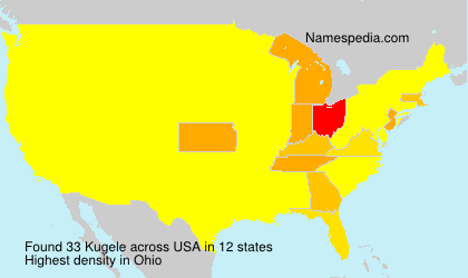 Surname Kugele in USA