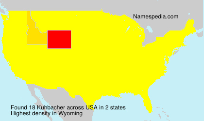 Surname Kuhbacher in USA