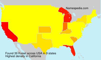 Familiennamen Kuisel - USA