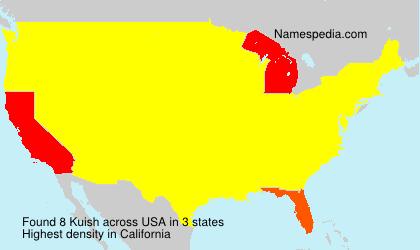 Familiennamen Kuish - USA