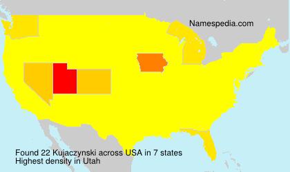 Familiennamen Kujaczynski - USA