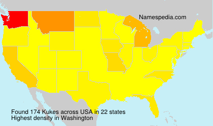 Surname Kukes in USA