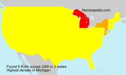 Surname Kukh in USA