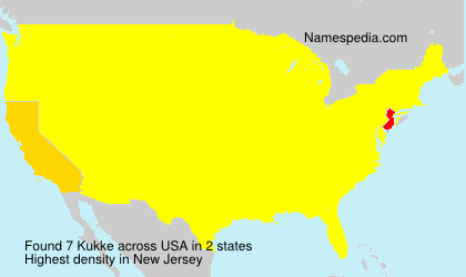 Familiennamen Kukke - USA
